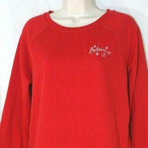 Old Navy Christmas Sweatshirt Believe It Size S
